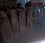 Four wines in bags