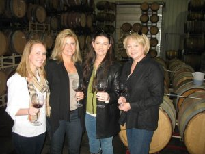 With Tammy in the Barrel Room