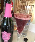 Biltmore Blackberry Bellini in Waterford Flute