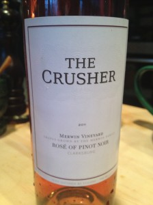The Crusher 2011 Rose of Pinot Noir